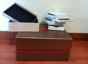scatole rivestite