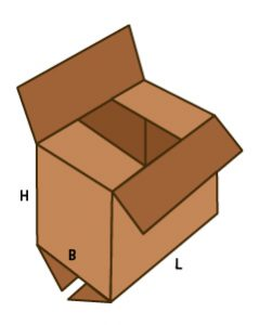 Fefco-201 scatola americana