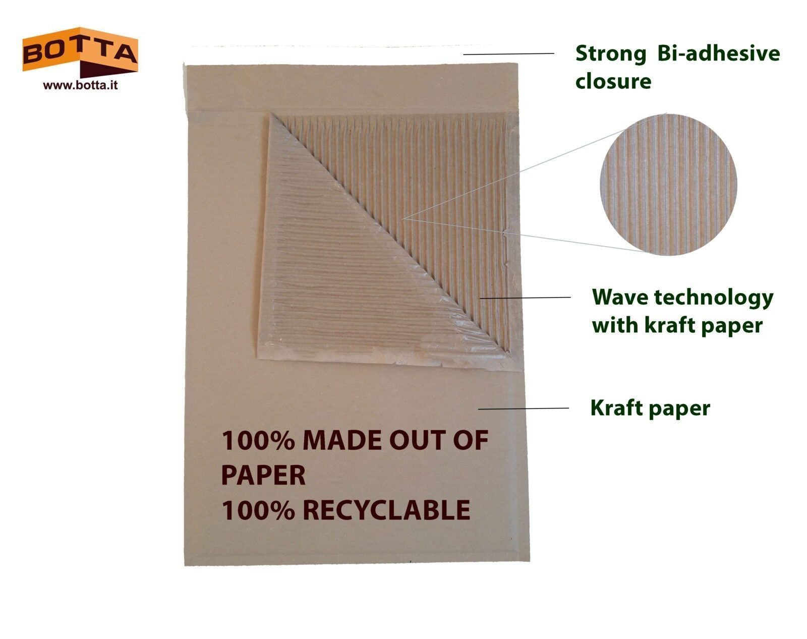 corrugated paper padded mailers